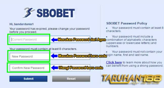 Kolom Ganti Password