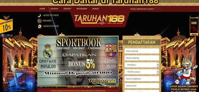 CARA DAFTAR DI TARUHAN188