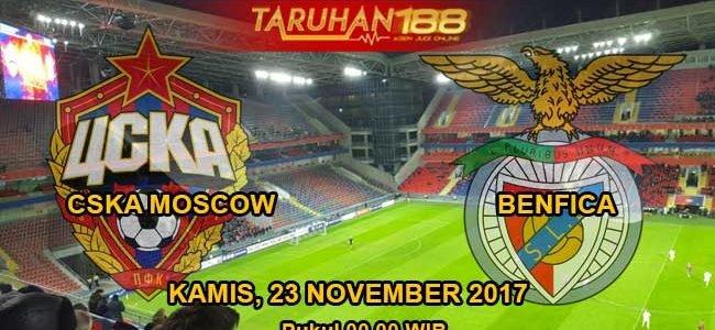 Prediksi Bola CSKA Moskow vs Benfica 23 November 2017
