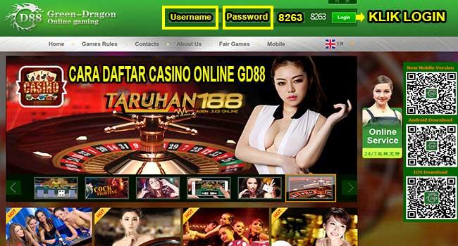 Tampilan Halaman utama jika anda login melalui komputer - CARA DAFTAR CASINO ONLINE GD88