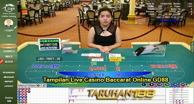 Tampilan Live Casino Bacarrat Online GD88 - CARA DAFTAR CASINO ONLINE GD88