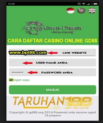 Tampilan android GD88 - CARA DAFTAR CASINO ONLINE GD88